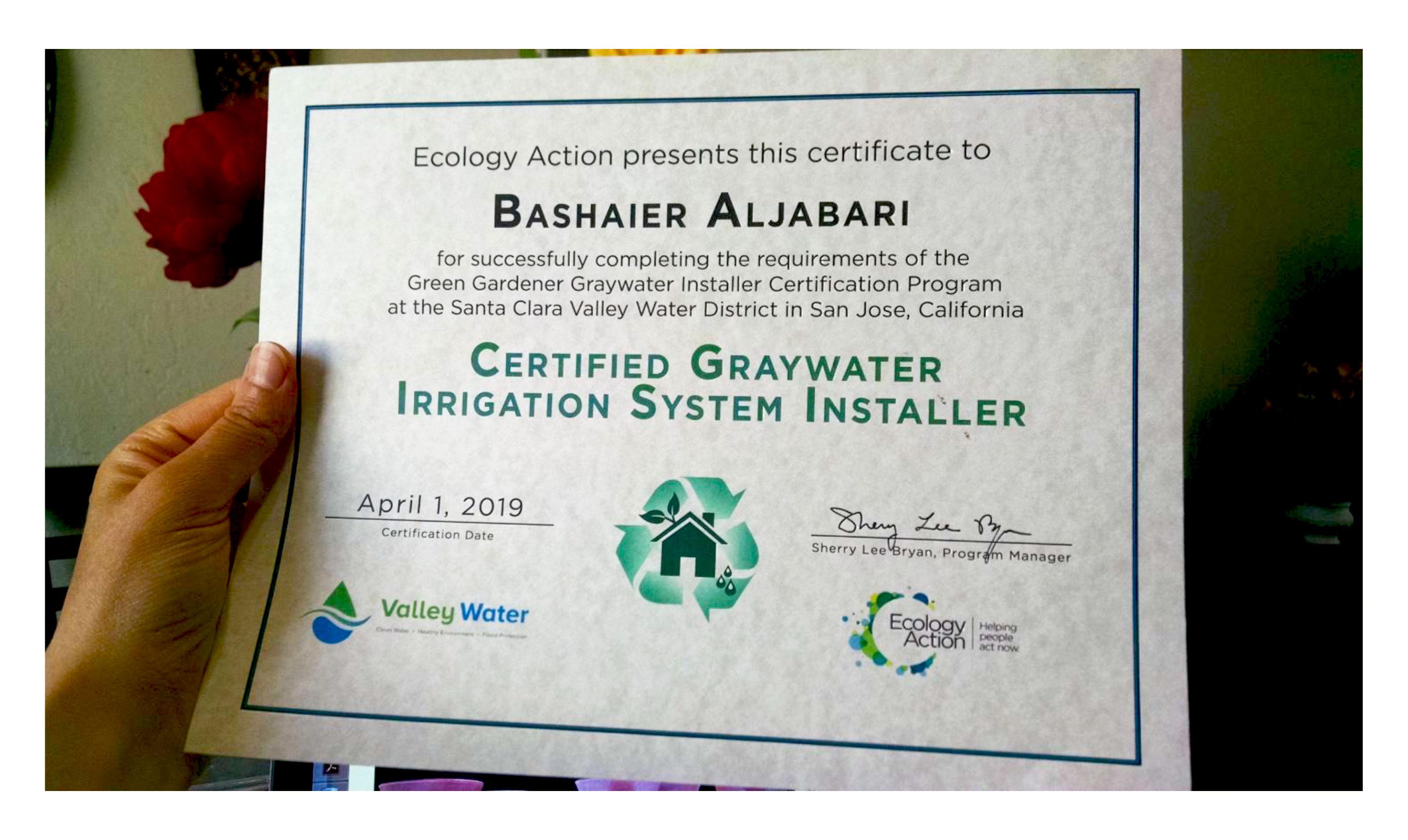 Greywater Installer Certification